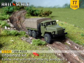 Ural-4320 (TT 1:120) in Smooth Fine Detail Plastic