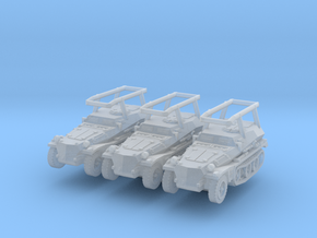 Sdkfz 253 Radio (x3) 1/285 in Smooth Fine Detail Plastic