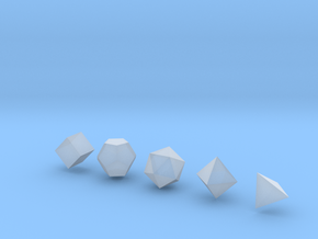 Platonic Solid - 1in in Smooth Fine Detail Plastic