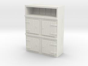 Wooden Cabinet 1/48 in White Natural Versatile Plastic