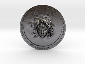 Algol Talisman in Polished and Bronzed Black Steel