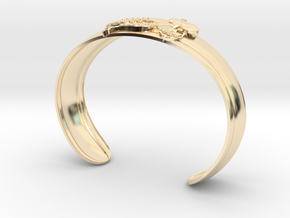 Playful Octopus Small Cuff in 14K Yellow Gold
