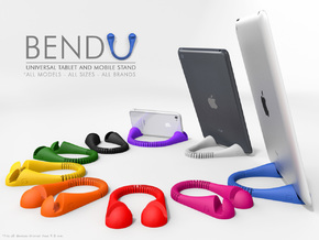 BendU - Universal Mobile Stand in White Natural Versatile Plastic