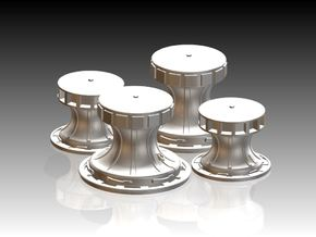 Capstans set 1/87 in Smooth Fine Detail Plastic