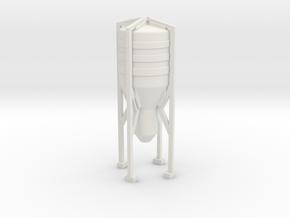 Grain Silo 1/100 in White Natural Versatile Plastic