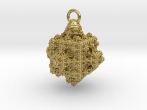 Mini Cuboiiid pendant  in Natural Brass