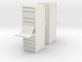 Computer Server (x2) 1/76 in White Natural Versatile Plastic