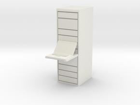 Computer Server 1/43 in White Natural Versatile Plastic