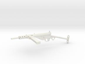 1/6th scale Sten MkII - T-bar Stock in White Natural Versatile Plastic