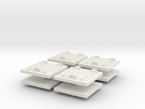 Wooden Trapdoor (x8) 1/87 in White Natural Versatile Plastic