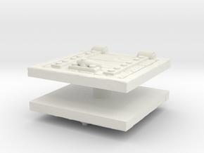 Wooden Trapdoor (x2) 1/48 in White Natural Versatile Plastic