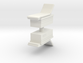 Medical Examination Table (x2) 1/76 in White Natural Versatile Plastic