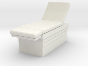 Medical Examination Table 1/24 in White Natural Versatile Plastic