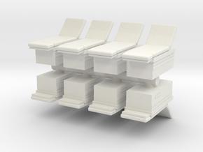 Medical Examination Table (x8) 1/160 in White Natural Versatile Plastic