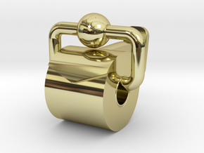 Toiler Paper Roll Cufflinks in 18K Yellow Gold