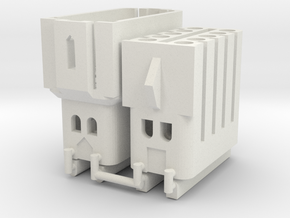Late Westy Fuse Block Universal Male and Female in White Natural Versatile Plastic