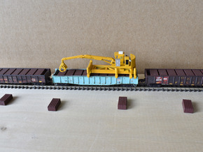 Jimbo Tie Crane with new ties -03-04-20 in Smooth Fine Detail Plastic