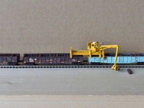 Jimbo Tie Crane with used ties 03-04-20 in Smooth Fine Detail Plastic