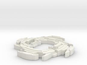 Cyber Draciel AR in White Natural Versatile Plastic