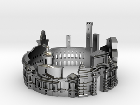 Bologna - Skyline Cityscape Ring in Polished Silver: 9 / 59