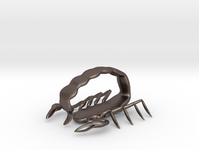 scorpion sml sting pendant in Polished Bronzed Silver Steel