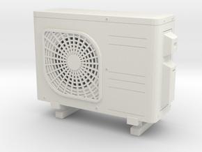 Air conditioner 01. 1:12 Scale in White Natural Versatile Plastic