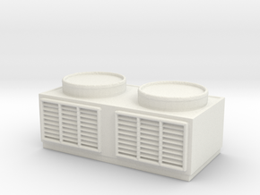 Rooftop Air Conditioning Unit 1/56 in White Natural Versatile Plastic