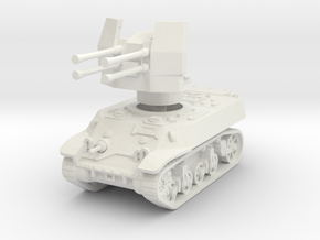 M3A3 with Flakvierling 38 1/87 in White Natural Versatile Plastic