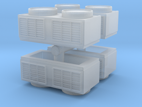 Rooftop Air Conditioning Unit (x4) 1/120 in Smooth Fine Detail Plastic