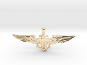 Naval Aviator Sweetheart Wings in 14k Gold Plated Brass