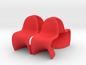 Chair 11. 1:24 Scale in Red Processed Versatile Plastic