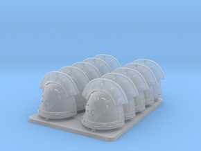 Lobos Del Astro V3 Iron Shoulder Pads in Smooth Fine Detail Plastic