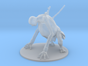 Zombie Belly monster miniature for games and rpg in Smooth Fine Detail Plastic