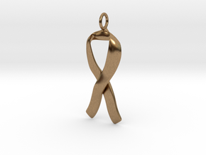 Ribbon Pendant Solid in Natural Brass
