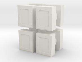 Fire Hose Box (x8) 1/72 in White Natural Versatile Plastic