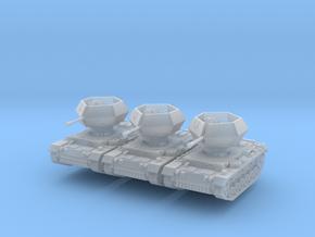 Flakpanzer III Ostwind (x3) 1/285 in Smooth Fine Detail Plastic
