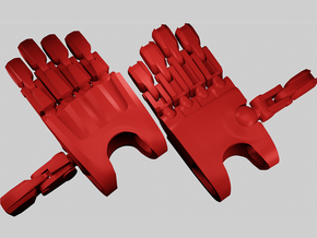 B:JtO articulated hands [Toa version] in Red Processed Versatile Plastic