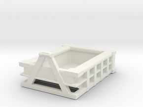 5Yd Construction Dumpster 1/76 in White Natural Versatile Plastic