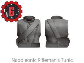 28mm heroic Rifleman's Tunic in Smooth Fine Detail Plastic