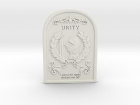 Resident Evil 0: Unity tablet in White Natural Versatile Plastic