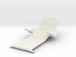 Sharc/Hornet Cockpit Seat  in White Natural Versatile Plastic