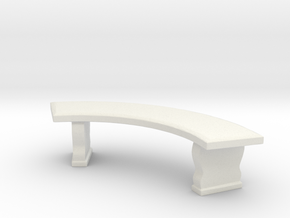 Curved Garden Bench 1/24 in White Natural Versatile Plastic