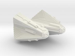 3788 Scale Tholian X-Ship Heavy Cruiser (CAX) SRZ in White Natural Versatile Plastic