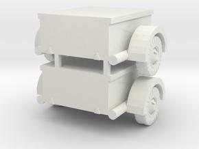 1/87 German ammunition trailer set of 2 in White Natural Versatile Plastic