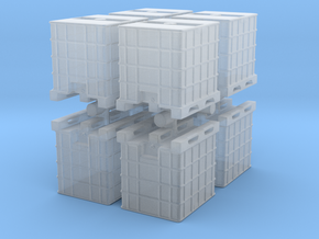 IBC Container Tank (x8) 1/144 in Smooth Fine Detail Plastic
