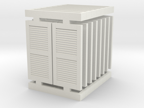 Window 01. 1:87 Scale in White Natural Versatile Plastic