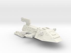 3788 Scale Kzinti X-Ship Command Cruiser (CCX) SRZ in White Natural Versatile Plastic