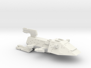 3788 Scale Kzinti X-Ship Battlecruiser (BCX) SRZ in White Natural Versatile Plastic