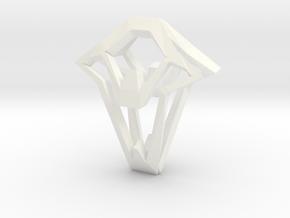 HEAD TO HEAD Again,  Pendant in White Processed Versatile Plastic