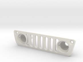 Axial Capra Jeep Grille For Lenses in White Natural Versatile Plastic